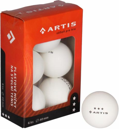 Míčky na stolní tenis 3 - 6 ks ARTIS 2