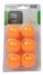 Míčky na stolní tenis 6 ks TUNTURI oranžové